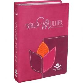 A Bíblia Da Mulher | Almeida Revista E Corrigida | Luxo | Vinho | Média